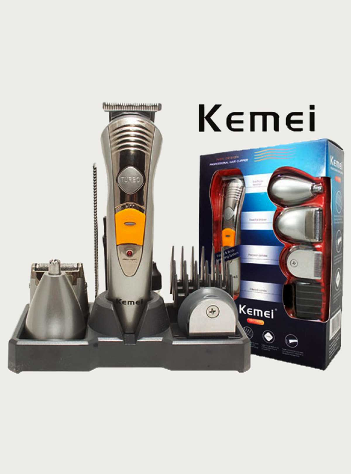 Kemei 7-in-1 Rechargeable Trimmer + Shaver