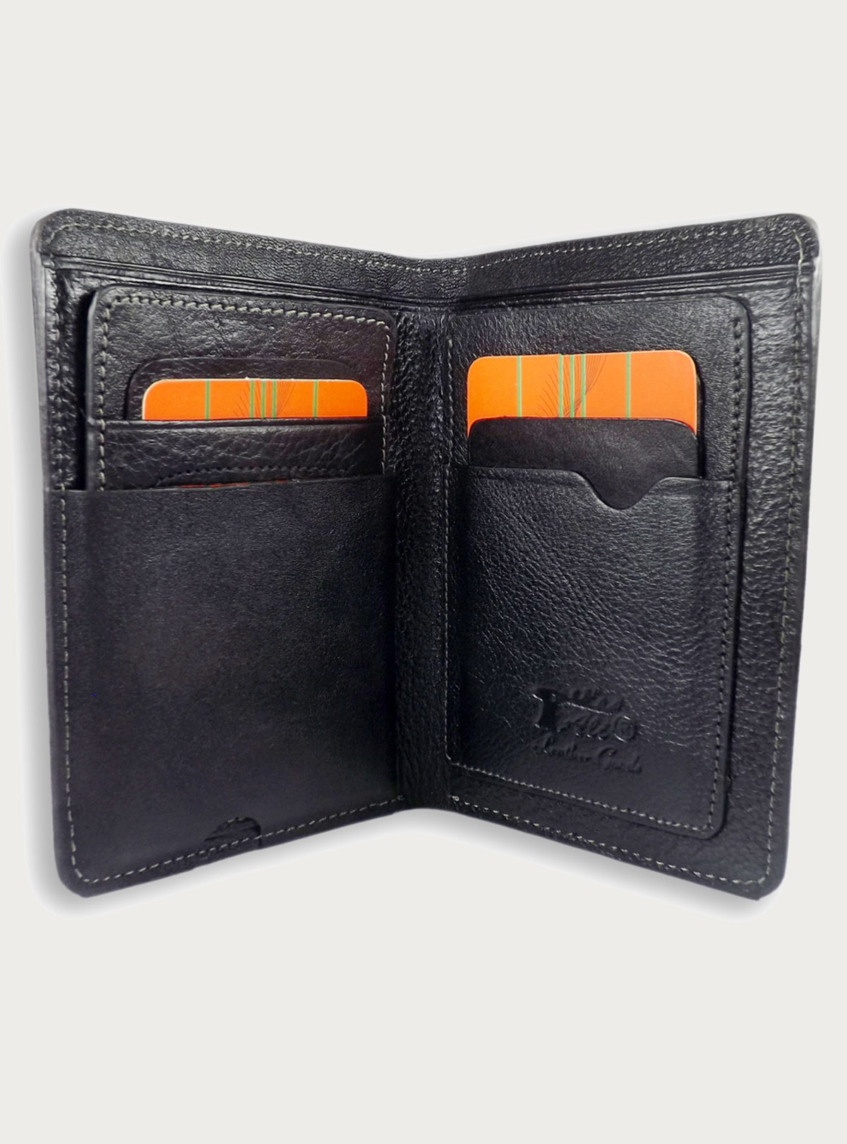 Leather wallet with Removable ID Card Holder