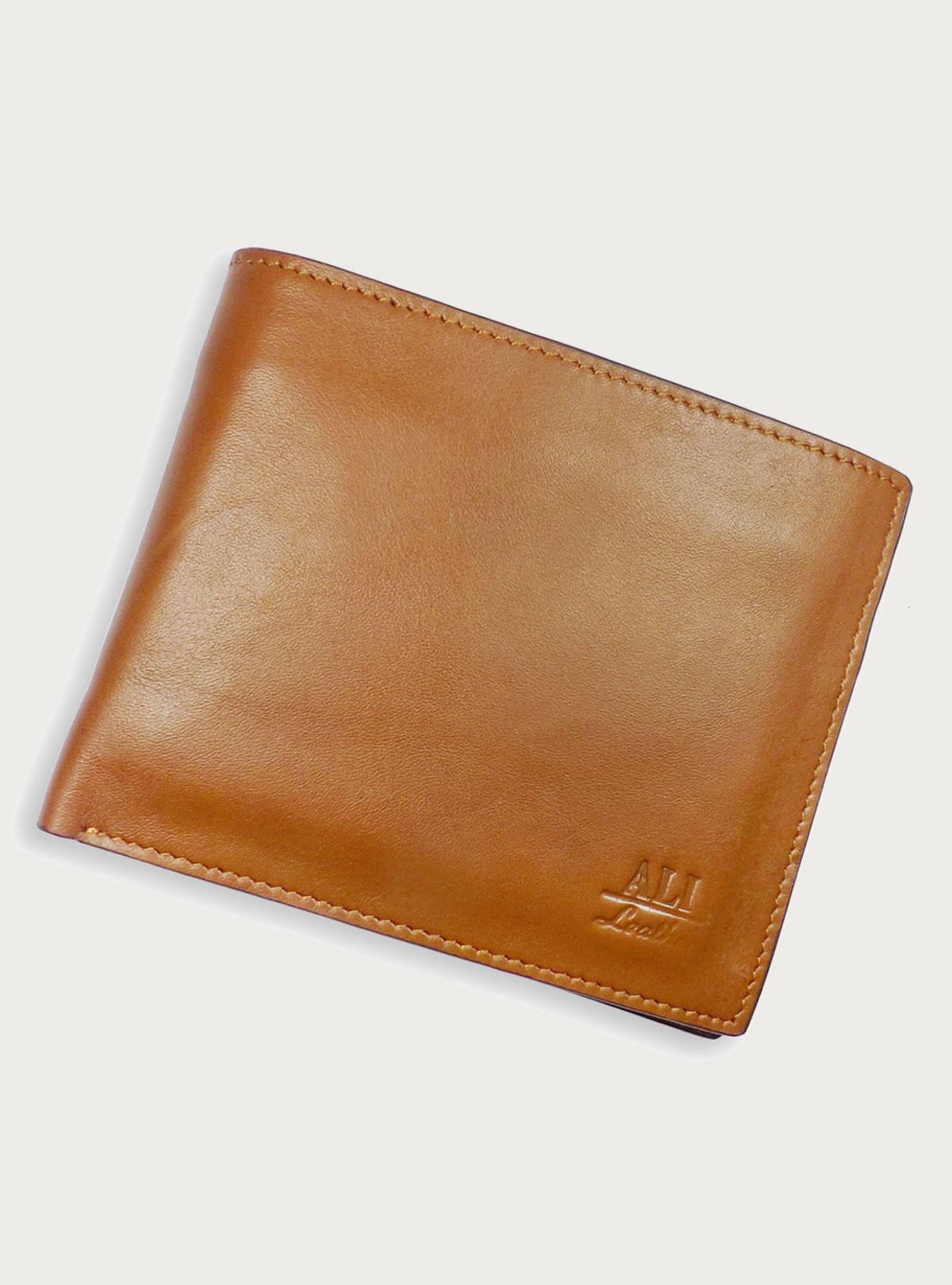 Three Part Leather Wallet Brown