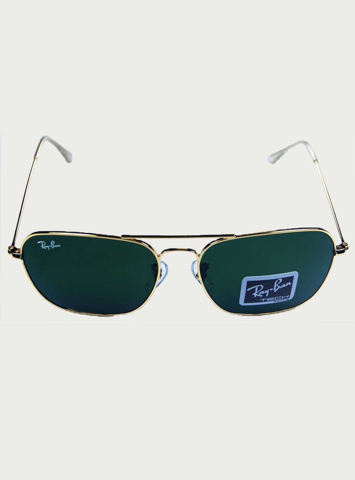 Ray.Ban Tech Golden-Green Sunglass