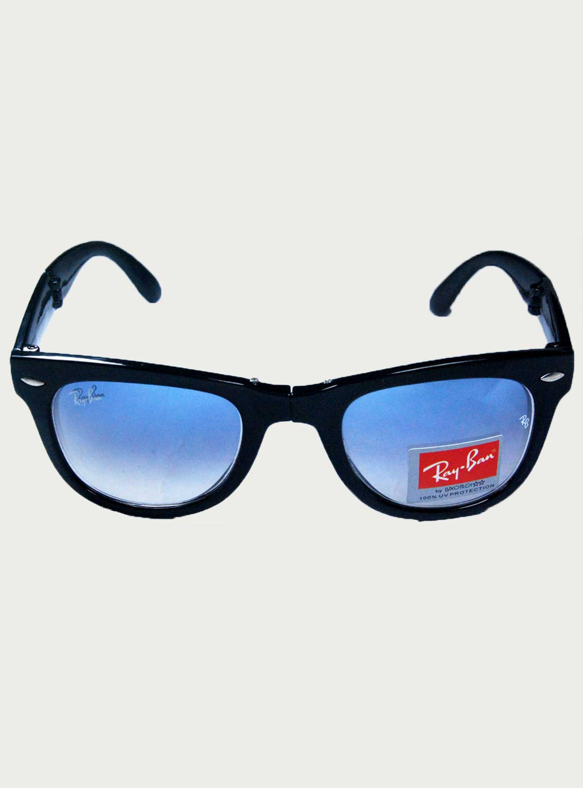 Ray.Ban Black-Blue Folding Sunglass