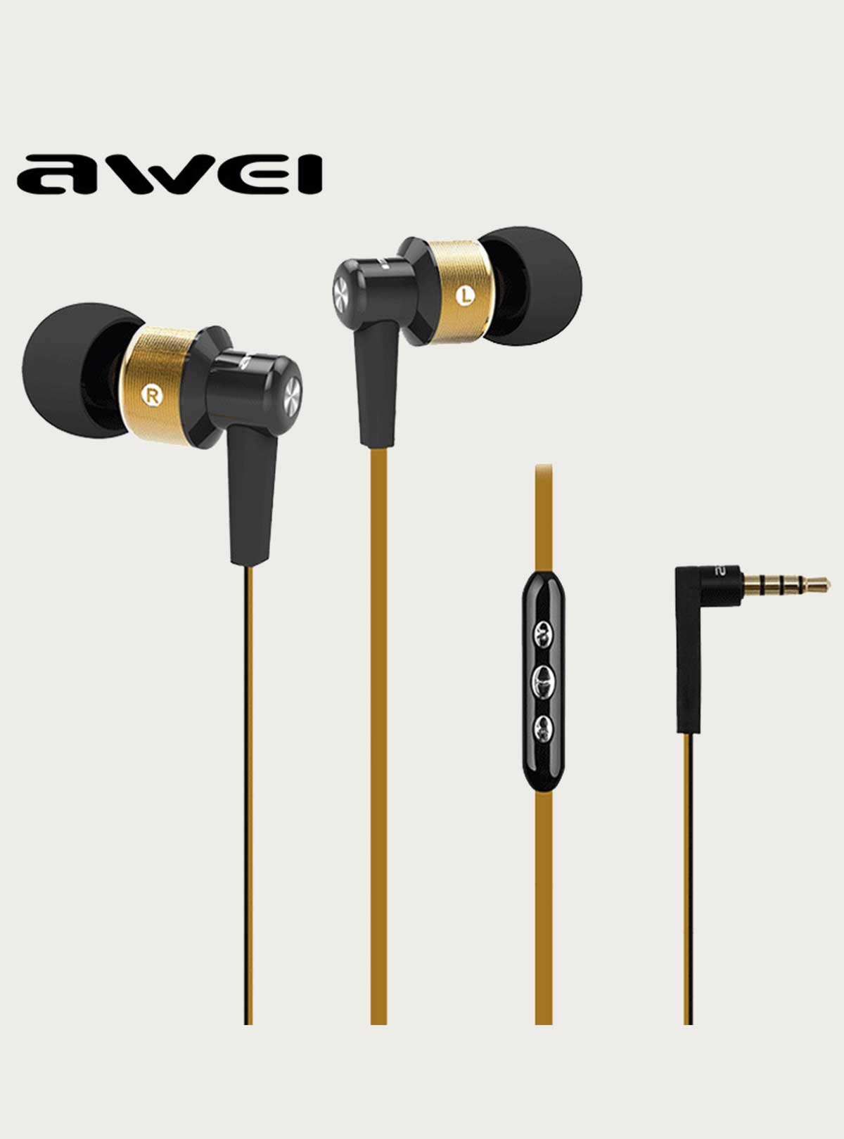Super Bass Stylish Sound Awei ES 55Vi Earphone with MIC