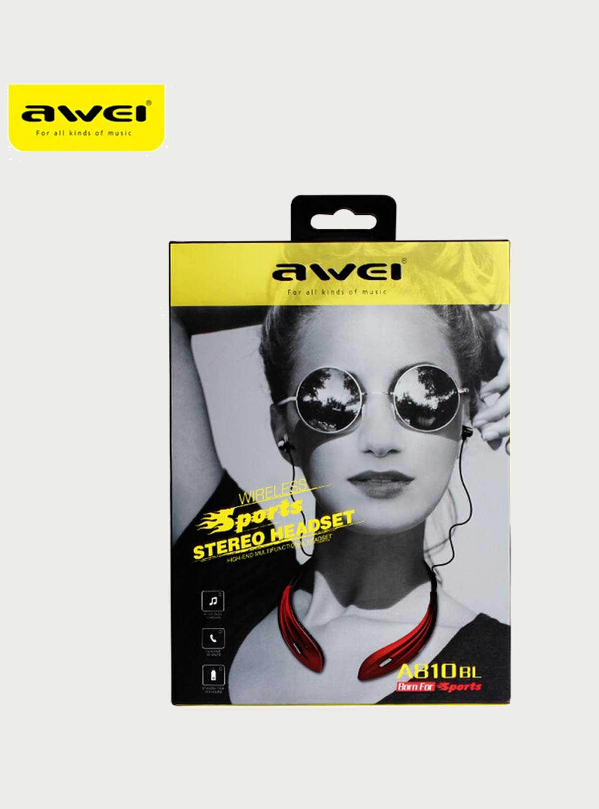 Original Awei A810BL Wireless Bluetooth 4.0 Sport In Ear Earbud Bass Stereo Headset Earphone With Mi