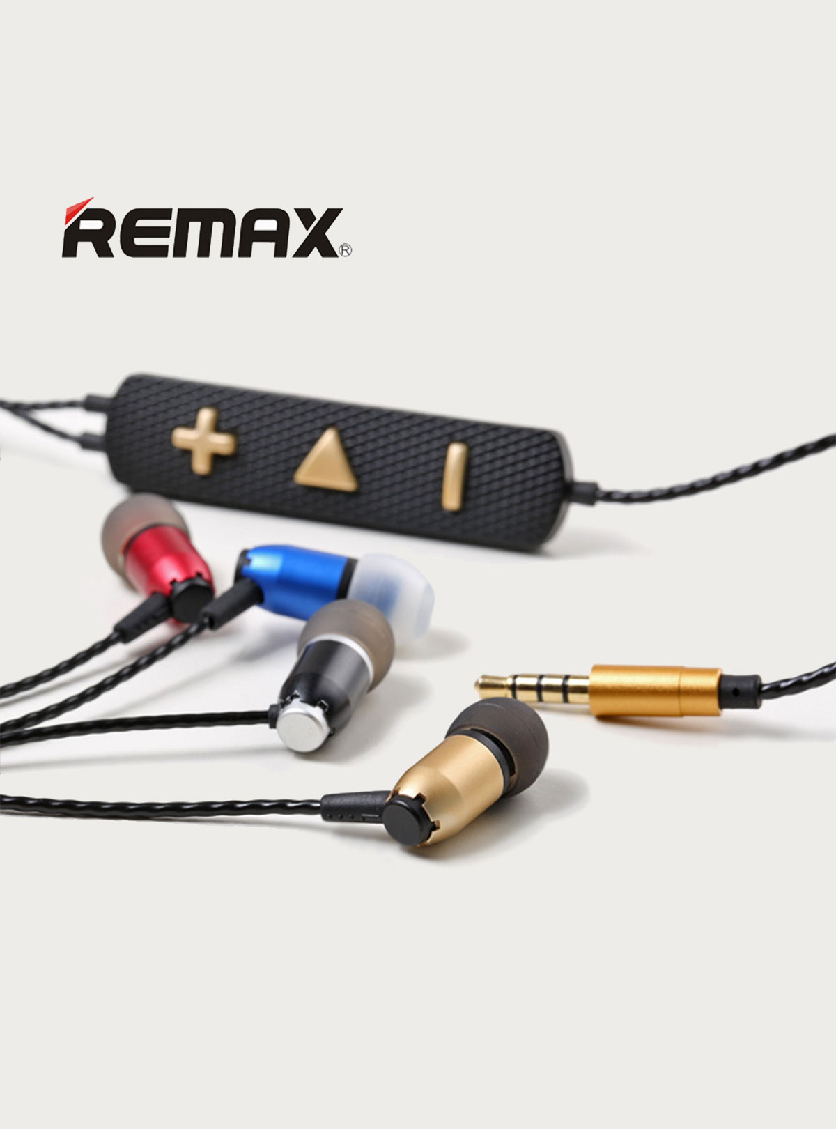 Original New REMAX RM-720i Headphone Pure Music Earphone High Quality Stereo Bass In-Ear Headset wit