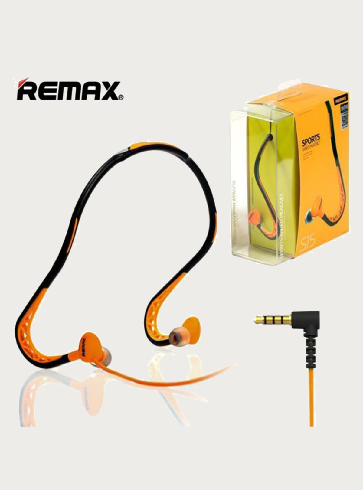 Remax RM-S15 Sports Wired Headset Neckband Headphone With MIC