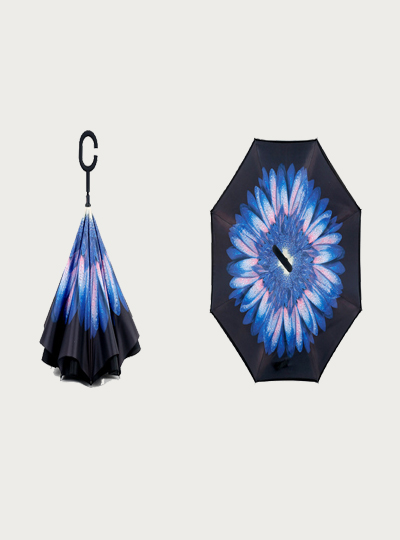 Floral Printed Inverted Umbrella