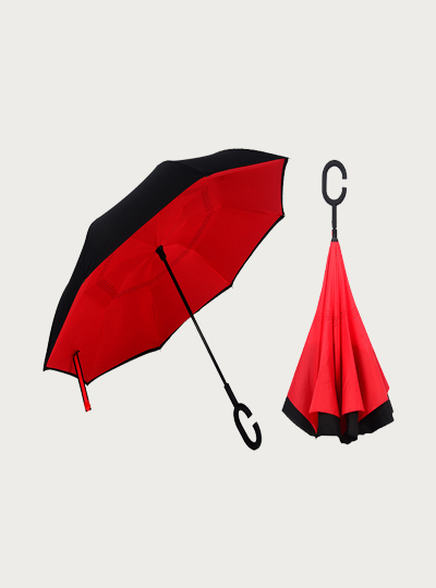 Inverted Umbrella Black-Red