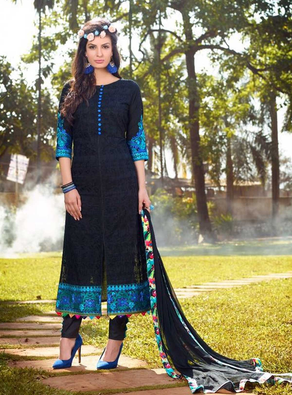 Original Indian Cotton Heavy Embroidery Dress