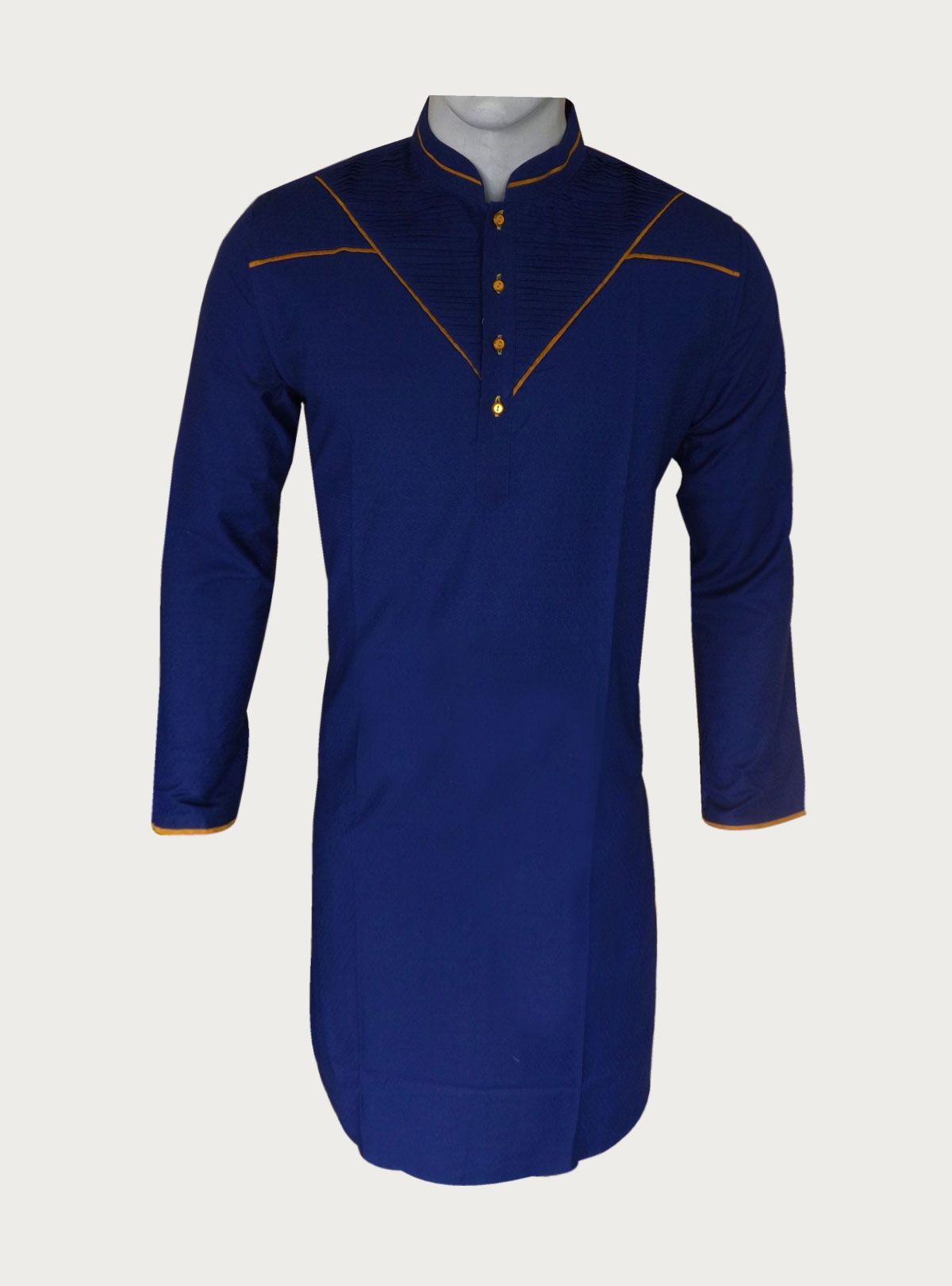 Fancy Cotton Panjabi Blue HDEBL002